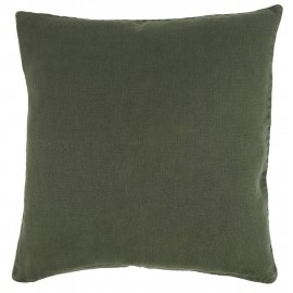 Housse de coussin carrée lin vert foncé IB Laursen