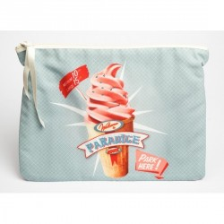 Trousse toile femme ice cream bonjour mon coussin
