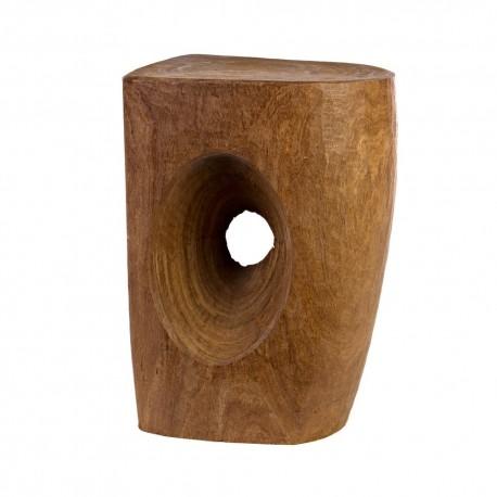 pols potten devil s eye tabouret bois sculpte 500-030-001