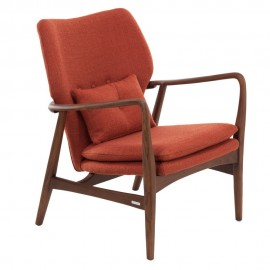 pols potten peggy fauteuil design retro scandinave orange rouille 555-020-002