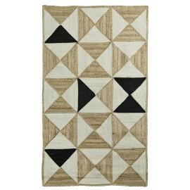 madam stoltz tapis descente de lit jute tresse motifs geometriques
