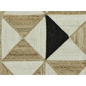 Tapis descente de lit jute tressé motifs géométriques Madam Stoltz