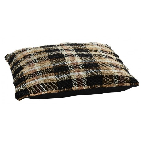 madam stoltz coussin de sol london tartan tweed a carreaux 70 x 70 cm