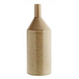 madam stoltz vase bouteille design gres beige E1993-CL50