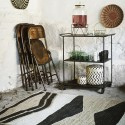 madam stoltz tapis jute style ethnique motifs noir beige ecru JER3151