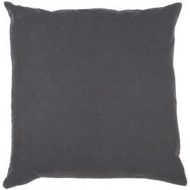 ib laursen coussin carre lin gris fonce anthracite 50 x 50 cm