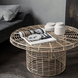 Table basse ronde rotin naturel House Doctor