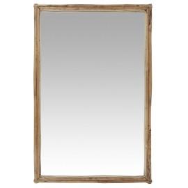Miroir mural rectangulaire bois de bambou IB Laursen