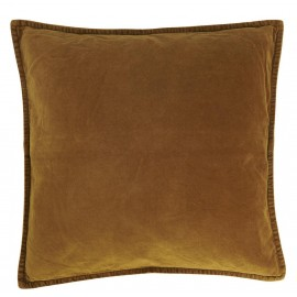 Housse de coussin carrée velours jaune doré IB Laursen