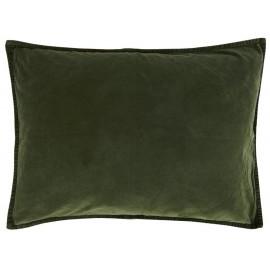 Housse de coussin rectangulaire velours vert IB Laursen