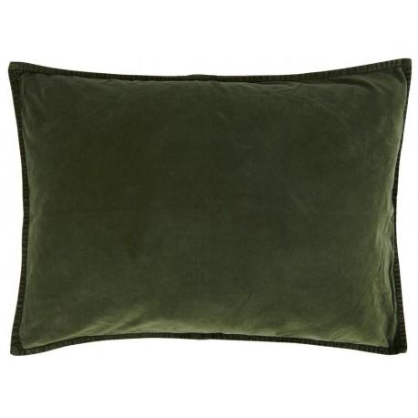 ib laursen housse de coussin rectangulaire velours vert fonce 6229-55