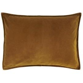 ib laursen housse de coussin velours rectangulaire jaune dore 6229-50