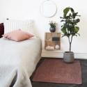 house doctor structure tapis descente de lit en chanvre rouge bordeaux