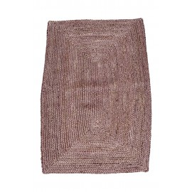 house doctor structure tapis descente de lit en chanvre rouge bordeaux