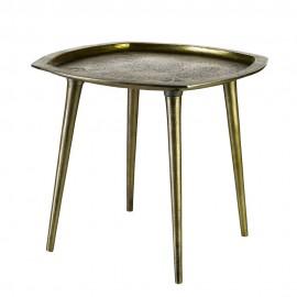 pols potten square table d appoint style vintage laiton vieilli 390-070-056