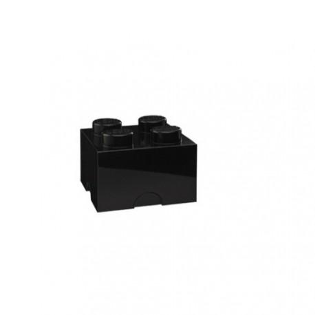 Brique lego rangement noir m 4 plots - Brique rangement lego ...