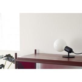 Lampe de table simple ampoule métal Hübsch noir