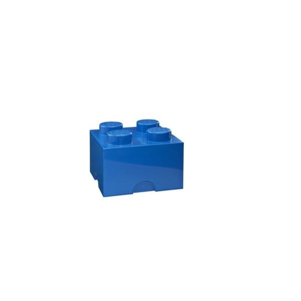 boite rangement lego bleu m 4 plots. Black Bedroom Furniture Sets. Home Design Ideas