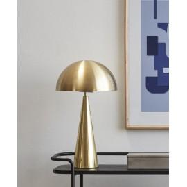 Lampe de table design métal laiton forme champignon Hübsch