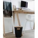 poubelle de bureau noire en bois umbra woodrow 082780-045
