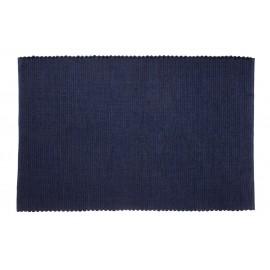 Tapis design coton bleu uni Hübsch