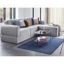hubsch tapis design coton bleu indigo uni 700903