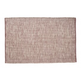 hubsch tapis design tisse coton rouge bordeaux blanc 700904