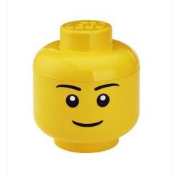 Lego boîte rangement tête garçon L