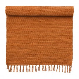 bungalow denmark tapis descente de lit orange coton recycle 60 x 90 cm