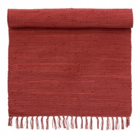 bungalow denmark tapis chindi rouge coton recycle 70 x 130 cm