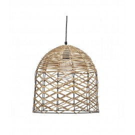 bloomingville suspension cloche en rotin 82042481