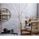 bloomingville etagere murale ronde bois canne sia 82045942