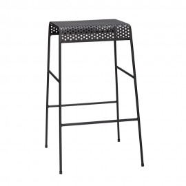 hubsch tabouret de bar design metal noir perfore 990907
