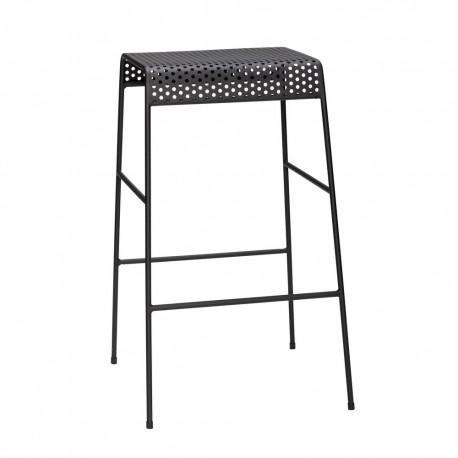 hubsch tabouret de bar design metal noir perfore 990907