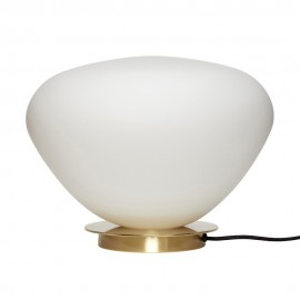 hubsch lampe de table classique chic laiton verre blanc 990910
