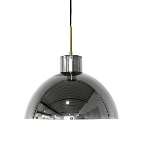 hubsch suspension design cloche verre gris chrome 990912