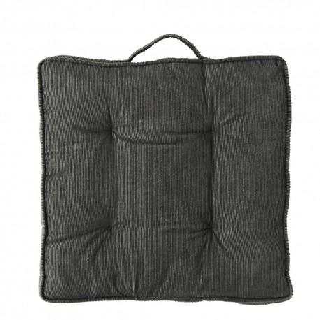 madam stoltz galette de chaise velours cotele gris JMS18-25