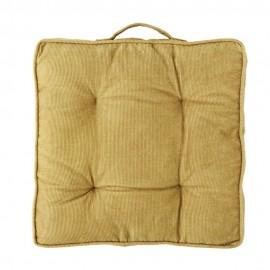 madam stoltz galette de chaise jaune moutarde velours cotele JMS18-26