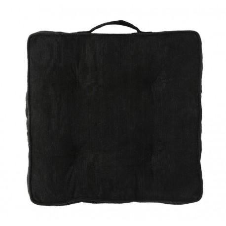 madam stoltz galette de chaise velours cotele noir JMS18-27