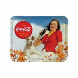 PLATEAU DÉCOR COCA COLA PLATEX DOG