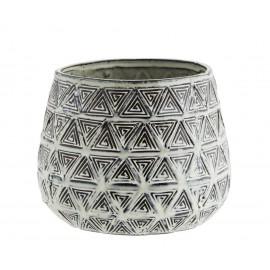 madam stoltz cache pot deco gres motifs geometriques HY15490A-19