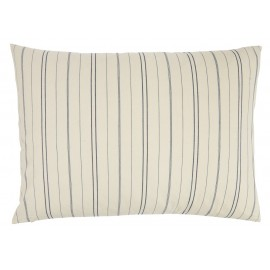 ib laursen grand coussin rectangulaire blanc fines rayures bleues 6251-00