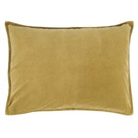 ib laursen housse de coussin rectangulaire velours jaune moutarde 50 x 70 cm
