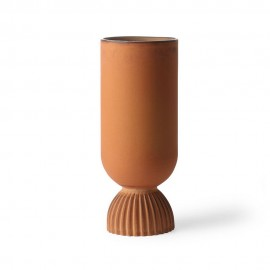 hk living vase droit style grec orange brique ceramique ACE6884