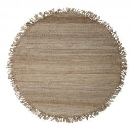 bloomingville tapis rond jute naturel franges 150 cm 82045586