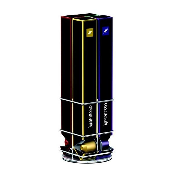 Porte capsules rotatif nespresso capstore box kdesign - Distributeur capsule nespresso design ...