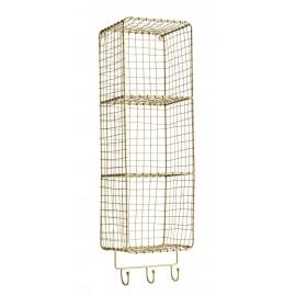 madam stoltz etagere murale verticale fil de fer laiton 3 compartiments