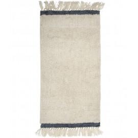Tapis descente de lit blanc gris laine Bloomingville Nature
