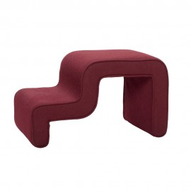 hubsch pouf forme design rouge bordeaux 100905