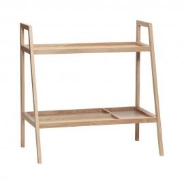 hubsch etagere basse a poser 2 niveaux bois chene clair 880614